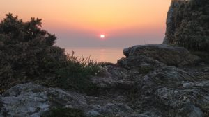 Sonnenuntergang bei Saint Malo