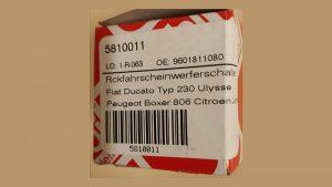 Verpackung mit Produktnummer